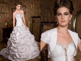 שמלת כלה עם שרוולון משי