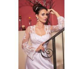 שמלת כלה עליונית שרוולים רחבים