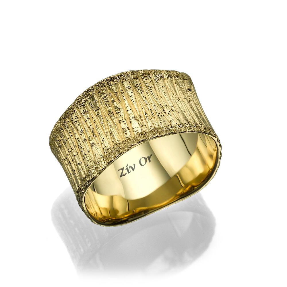 טבעת רחבה רומנטית לכלה
