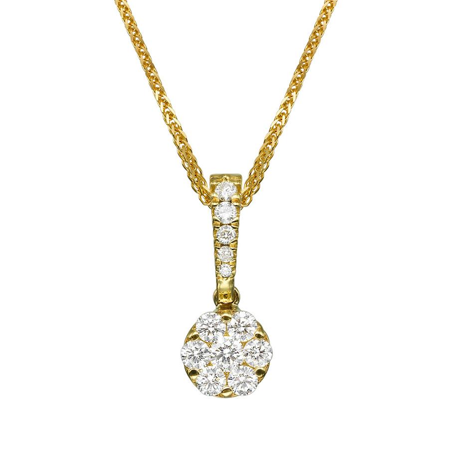 תליון קלאסי מעוטר יהלומים