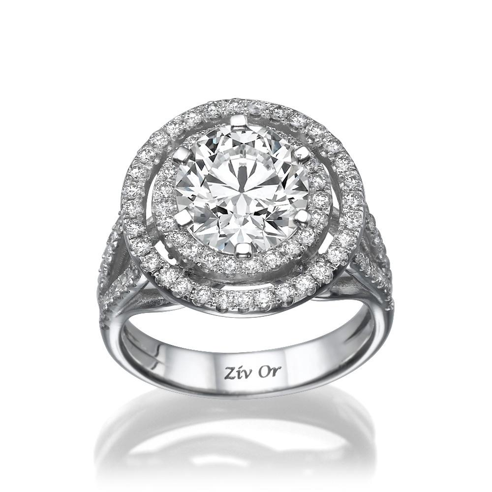 טבעת חותם עם יהלום גדול