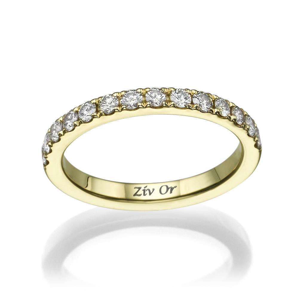 טבעת צרה עשויה זהב צהוב