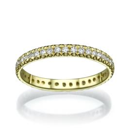 טבעת עדינה עשויה זהב צהוב