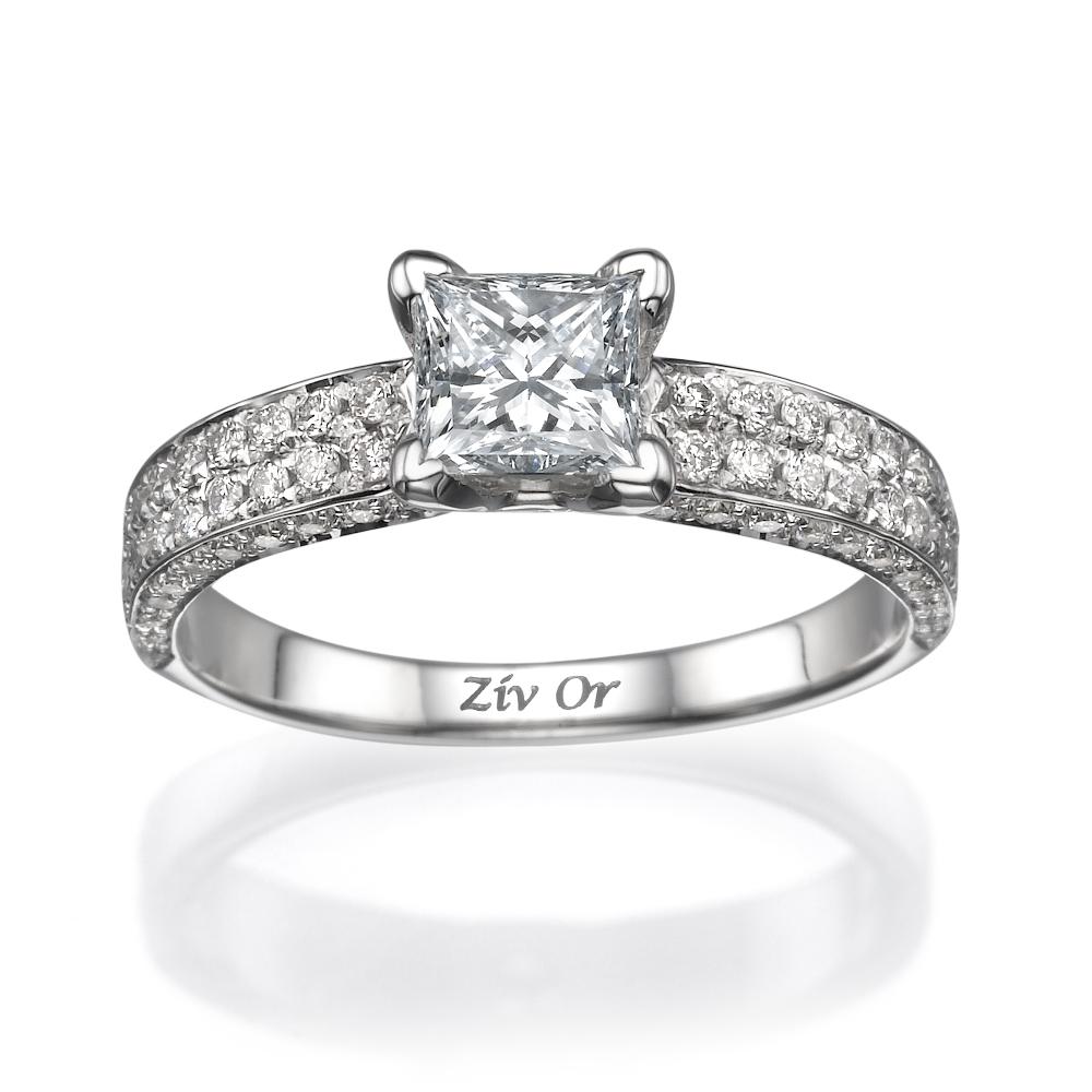 טבעת יהלומים בסגנון סוליטייר