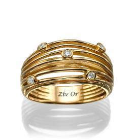 טבעת חישוקים רחבה מעוטרת