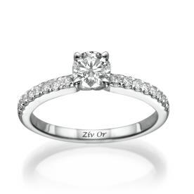 טבעת אירוסין עדינה צרה