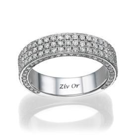 טבעת נישואין קלאסית מעוצבת