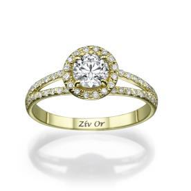 טבעת אירוסין מרשימה עם יהלומים