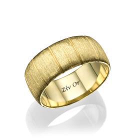 טבעת קלאסית עדינה עם חספוס