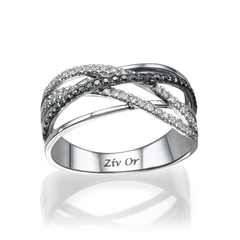 טבעת נישואין קלועה מעוטרת