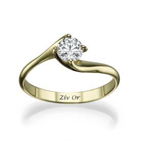 טבעת בעיצוב קלאסי עדין לכלה