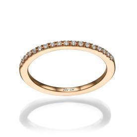 טבעת צרה עשויה זהב אדום