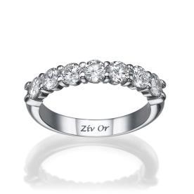 טבעת נישואין עשויה זהב לבן