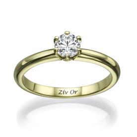 טבעת יהלום קלאסית לכלה