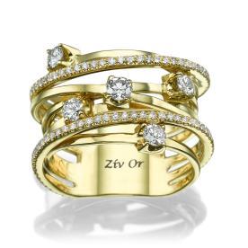 טבעת נישואין עדינה מרשימה
