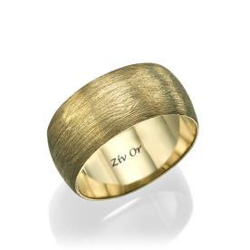 טבעת קלאסית עם חספוס עדין