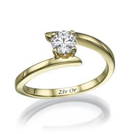 טבעת סימטרית עדינה לכלה