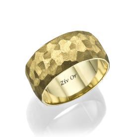 טבעת נישואין ייחודית רקועה