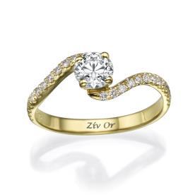 טבעת סוליטייר גלית סימטרית