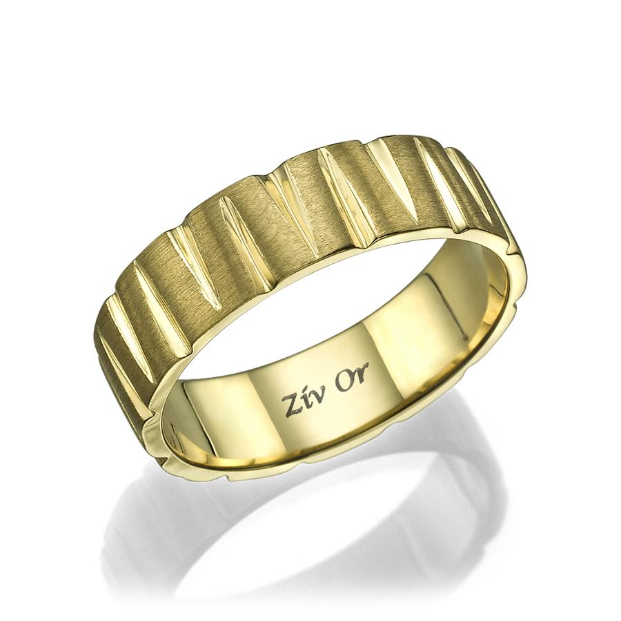 טבעת זהב מודרנית עם בליטות