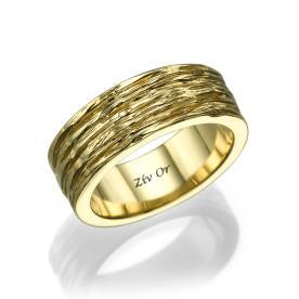 טבעת עבה עשויה זהב צהוב