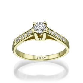 טבעת יהלומים בעיצוב וינטאג
