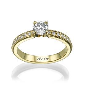 טבעת זהב צהוב בעיצוב קלאסי