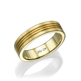 טבעת נישואין עם שלוש חריטות