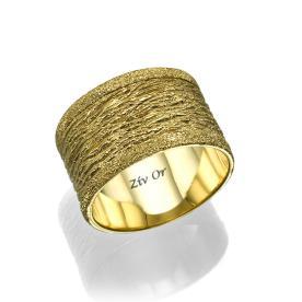 טבעת מיוחדת מחוספסת לכלה