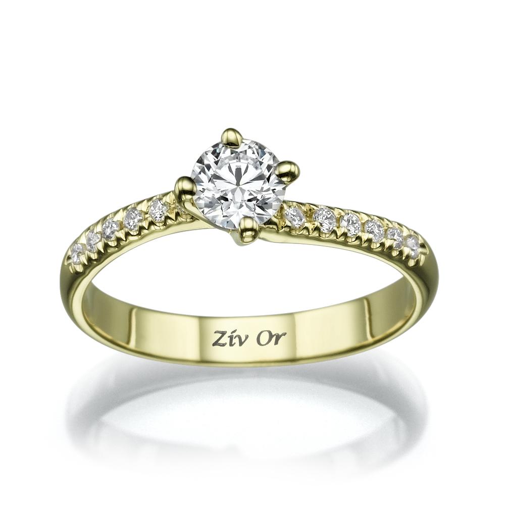 טבעת יהלום בעיצוב אלגנטי