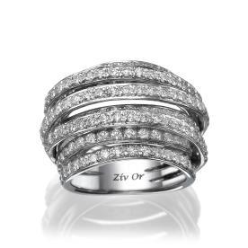 טבעת נישואין מעוצבת מרשימה