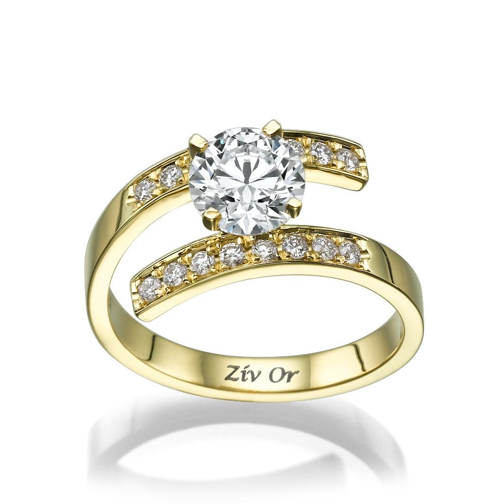 טבעת ספירלה מודרנית לכלה