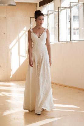 שמלת כלה בשילוב תחרה עשירה