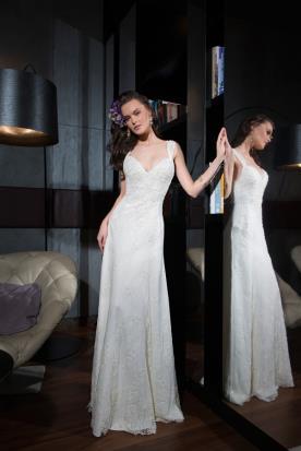 שמלת כלה אלגנטית מעוטרת