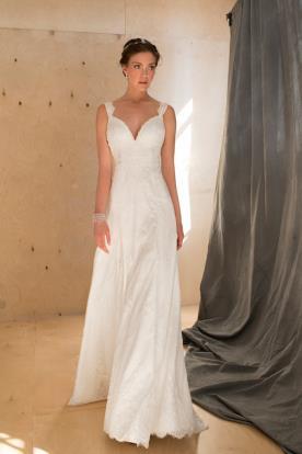 שמלת כלה אלגנטית עם מחשוף