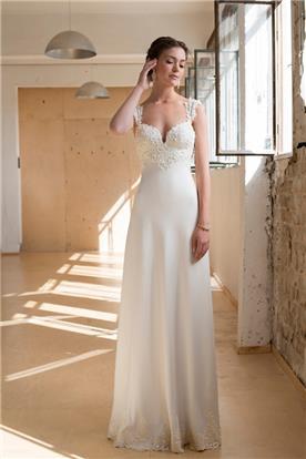 שמלת כלה בעיצוב נקי
