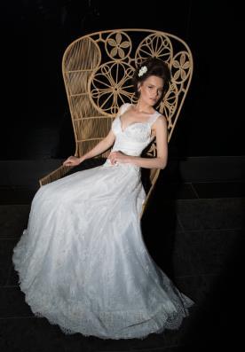 שמלת כלה עם מחשוף לב מסאטן