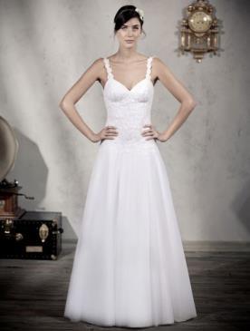 שמלת כלה תחרה חצאית שיפון