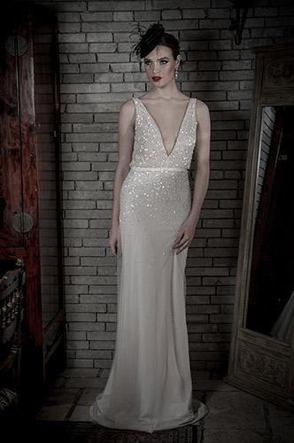 שמלת כלה חרוזים עדינים