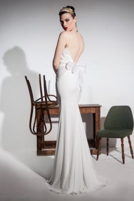 שמלת כלה פפיון ומשי