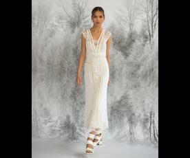 שמלת כלה צורות רקומות וחרוזים