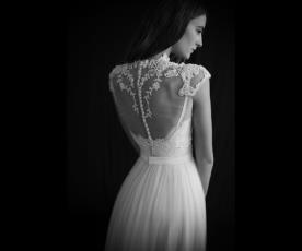 שמלת כלה חולצת תחרה שקופה