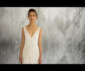 שמלת כלה וינטג' רקומה