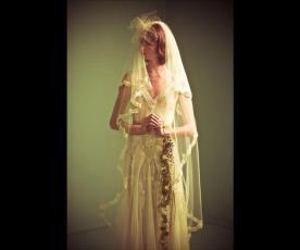שמלת כלה תחרה וינטג' וטול