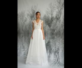 שמלת כלה כתפיות עבות עם תחרה