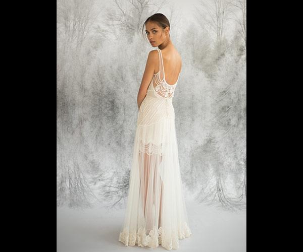 שמלת כלה מיני ושיפון דק מקסי