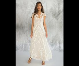 שמלת כלה וינטג' קלאסית צנועה