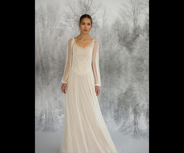 שמלת כלה שרוול ארוך בוהו שיק