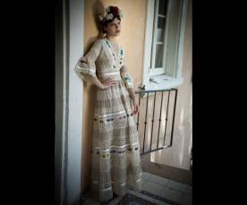 שמלת כלה צבעונית קומות וינטג'