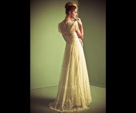 שמלת כלה שרוולים קצרים וינטג'
